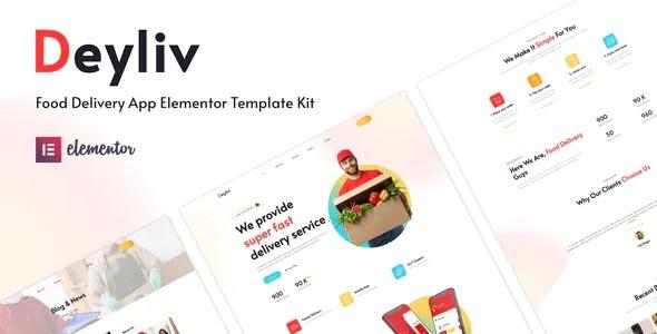 Best Food Delivery App Elementor Template Kit