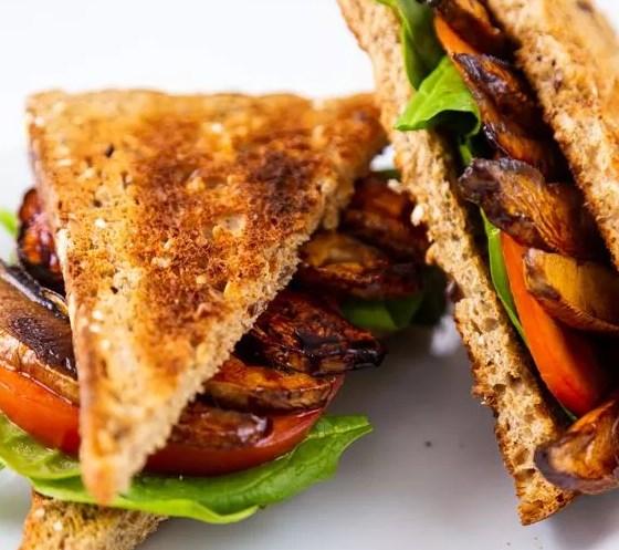PORTOBELLO MUSHROOM BACON – VEGAN BACON #vegetarian #sandwich