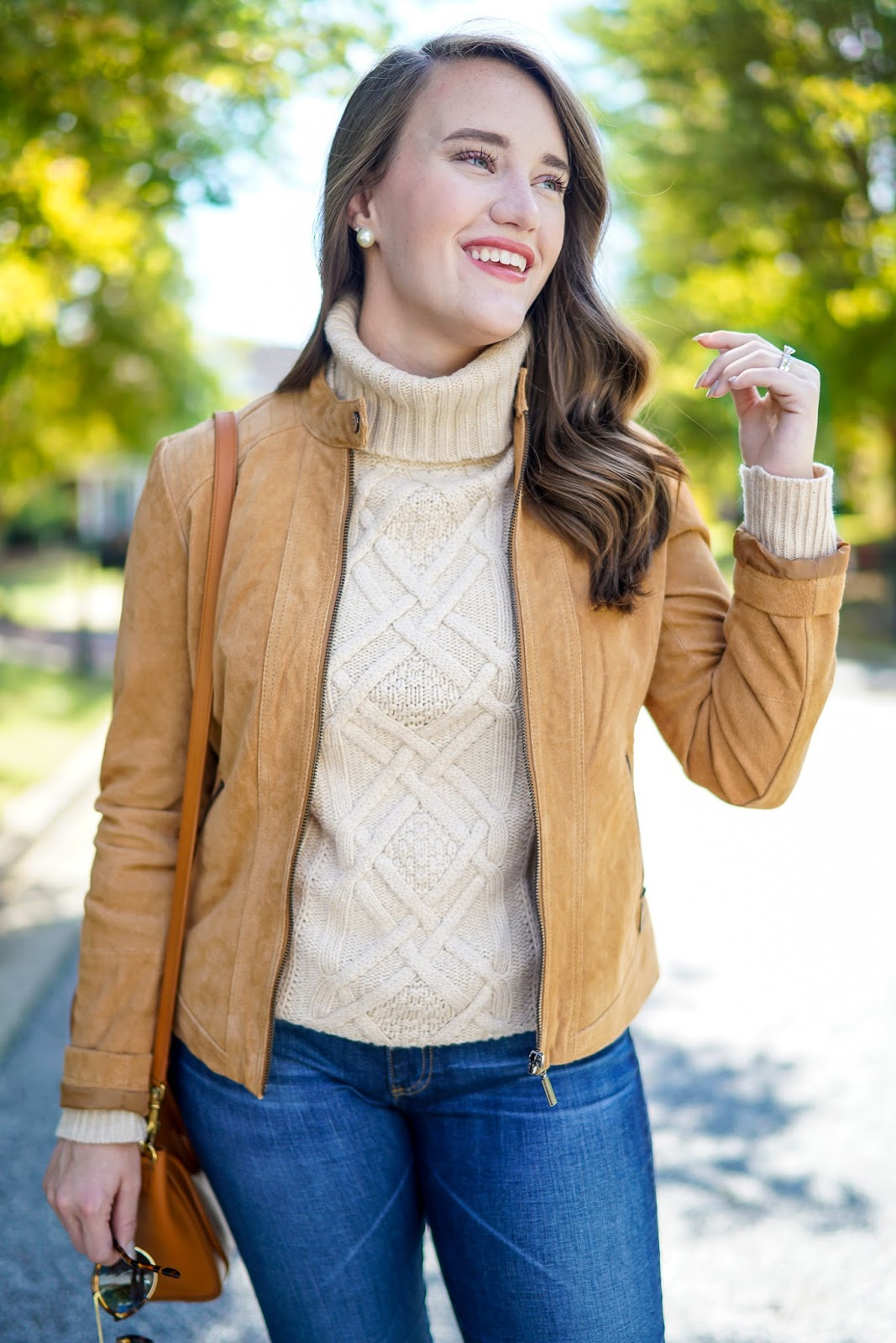 Bernardo Suede Jacket, Fall Sweaters, J. Crew Cable Knit Turtleneck, Winter Sweaters, Sweaters for Fall