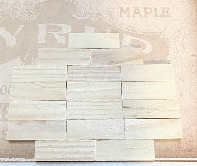 blocks glued to card stock
