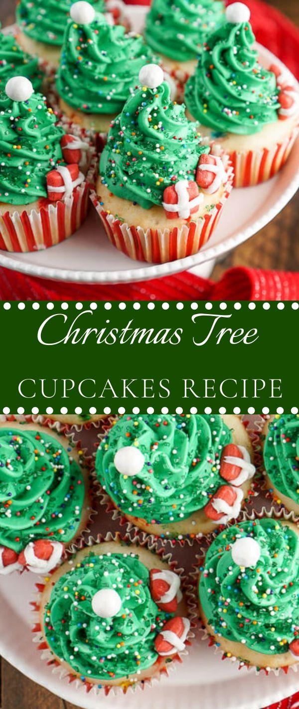 Christmas Tree Cupcakes Recipe #Christmas #Tree #Cupcakes #Recipe Dessert Recipes Easy, Dessert Recipes Healthy, Dessert Recipes For A Crowd,