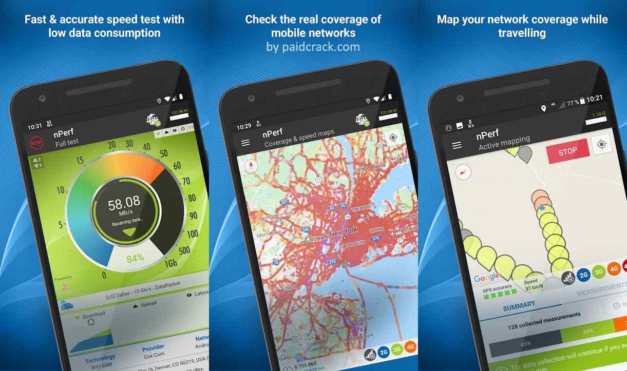 Speed test 3G, 4G, 5G, WiFi & network coverage map Premium Mod Apk 2.9.2