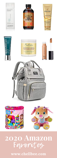 Amazon Favorites | Learn how to maintain my natural hair, minimalist make up, and juggle motherhood. These beauty items and toddler toys are perfect for moms looking to save money, time, and keep your little one entertained. Mom life | natural makeup | natural hair | skincare products | New mom tips | #motherhood #momlife  #naturalhair #naturalhairstyles