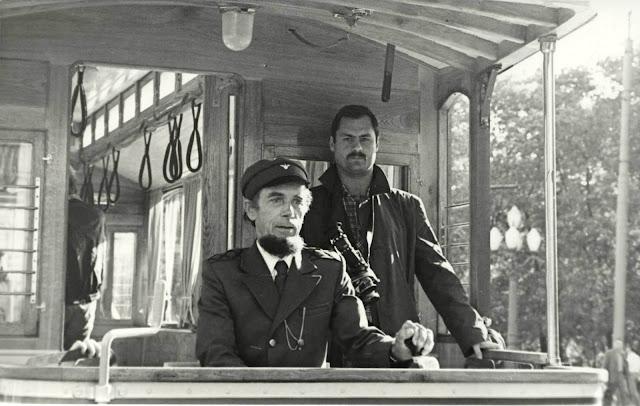 Первый водитель обновленного ретро трамвая Лаймонис Виткус