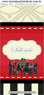 Avengers Party Free Printable Candy Bar Labels.