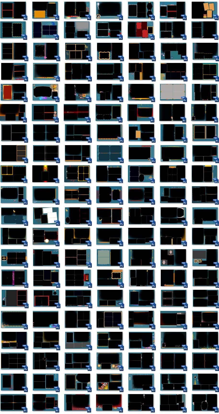 Photo Album 12x18 PSD Templates