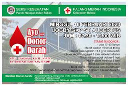 Donor Darah 16 Februari 2020