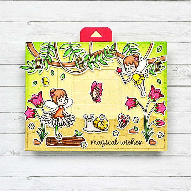 Sunny Studio Stamps: Garden Fairy & Tropical Scenes Interactive Fairies Card by Guest Designer Marine Simon