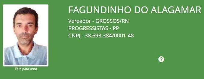 """Candidato a vereador pela coligação """"Unidos pela reconstrução de Grossos"""" tem registro indeferido"""