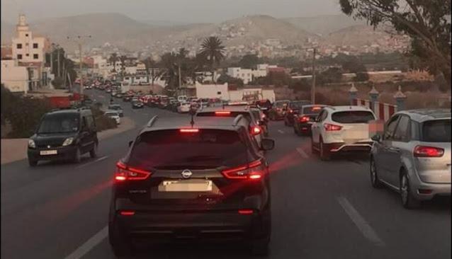 أكادير : اكتظاظ واختناق مروري كبير وسط و ضواحي المدينة.
