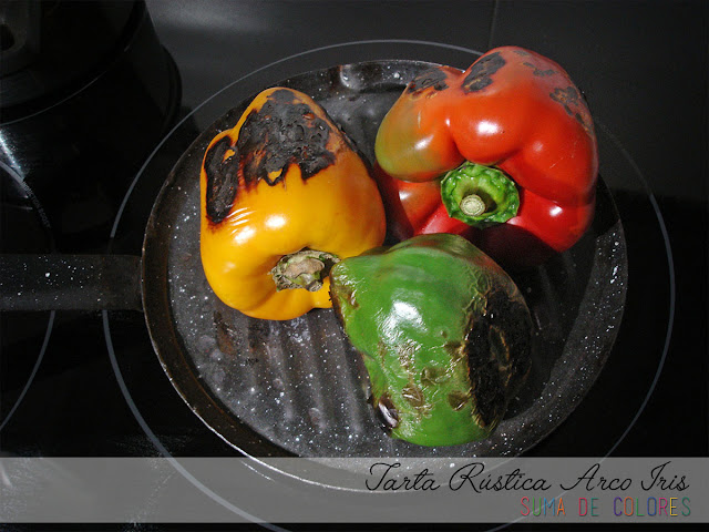 Tarta-Rustica-Arco-Iris-Pimientos