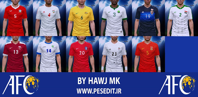 PES 2017 / PES 2016 Asia FIFA World Cup 2018 Qualifiers Kit Pack by Hawj Mk