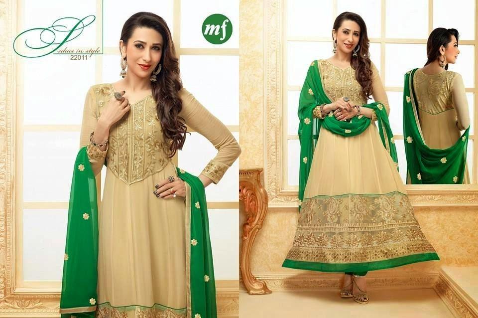 Beige Dress Picture Collection: Shalwar Kameez Pakistani 2014-2015