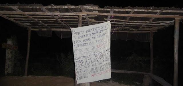 """""""Los haremos pedacitos"""" Sicarios dejan amenaza contra extorsionares en Quintana Roo."""