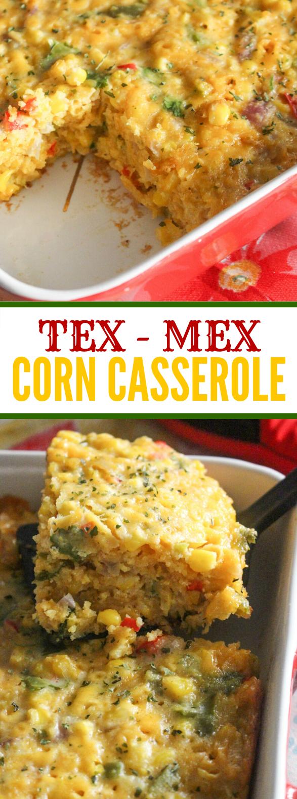 TEX MEX CORN CASSEROLE #dinner #meals