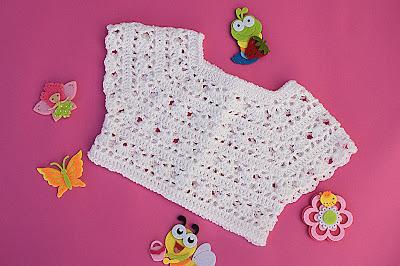 1 - Crochet Imagen Canesú blanco a crochet y ganchillo por Majovel Crochet