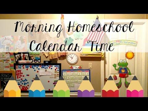 homeschool morning calendar routine