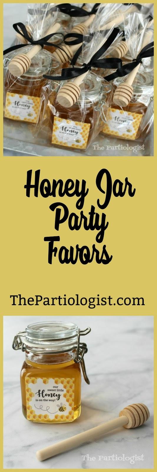 The Partiologist Honey Jar Party Favors