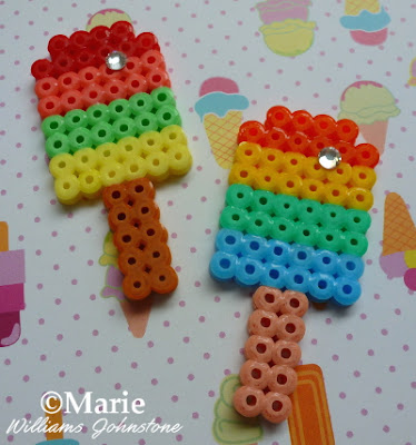 finished popsicle patterns and designs in rainbow colors