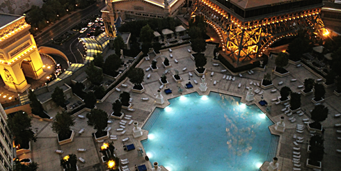 paris las vegas hotel strip view