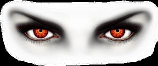 عيون حمراء تعبر عن الحسد