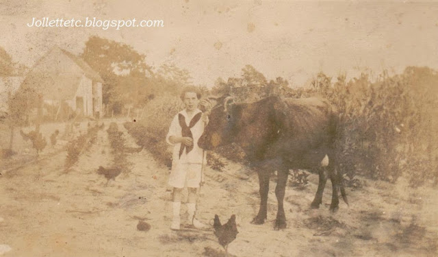 Unknown boy with cow 1870s or 1880s  https://jollettetc.blogspot.com