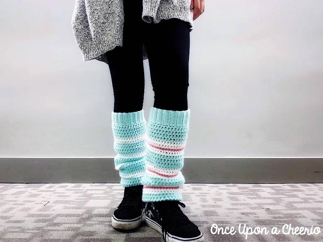 Wreck-it-Ralph Vanellope Sugar Rush Leg Warmers Free Crochet Pattern