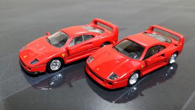 kyosho ferrari minicar f40 early new old versus late model design