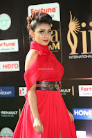 Apoorva in a Stunning Tight Leg Split Sleeveless Red Gown at IIFA Utsavam Awards 21.JPG