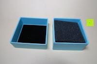 Box öffnen: Neoglory Jewellery Silber mit Swarovski Elements Halskette Armkette Ohrringe Tropfen blau