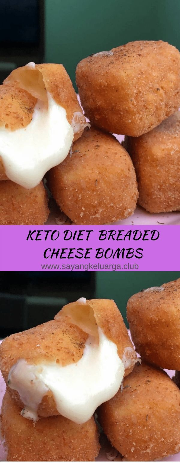 KETO DIET BREADED CHEESE BOMBS
