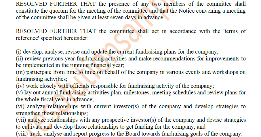 draft board resolution under section 186 of companies act 2013