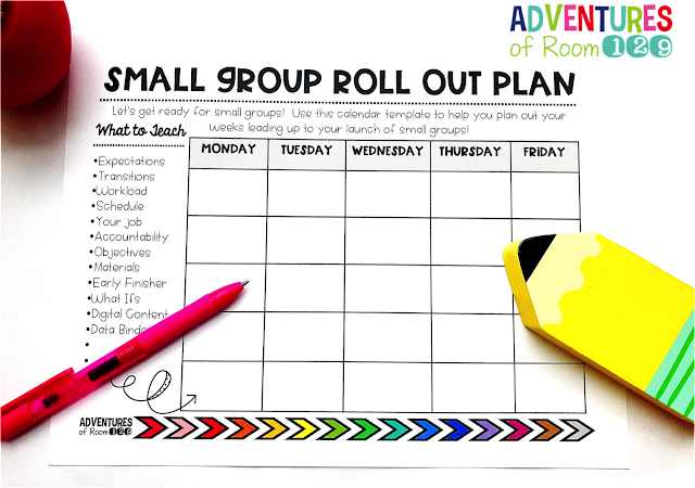 Make sure you have everything you need to get started with small groups.  Read all about these important parts of small groups to teach before getting started!  Plus grab your awesome small group roll out plan template freebie!