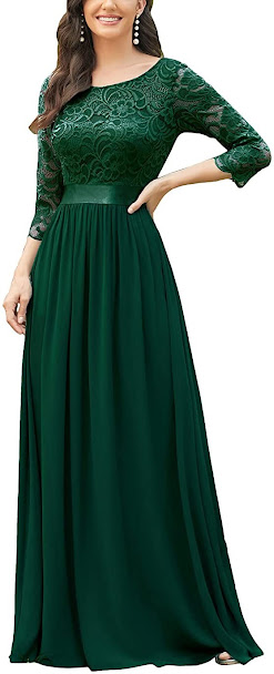 Green Mother of The Groom Dresses