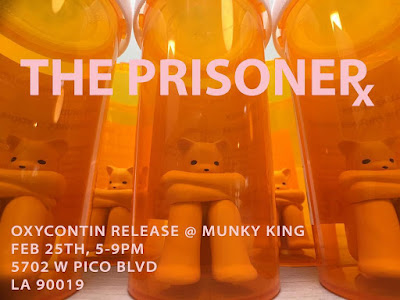 The Prisoner Oxycontin Edition Resin Figure by Luke Chueh x Munky King