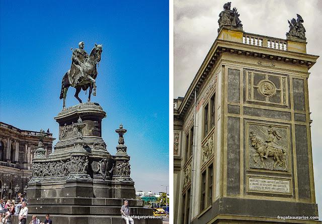 Monumentos a membros da Dinastia Wettin, Dresden, Alemanha