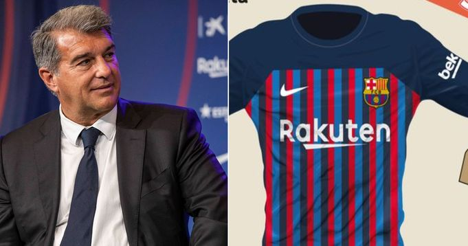 Leaked: Barca's home kit for 2022/23 reportedly approved by Laporta