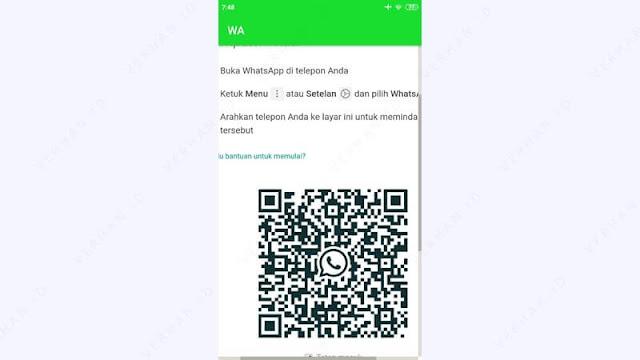 scan kode qr whatsapp web di hp