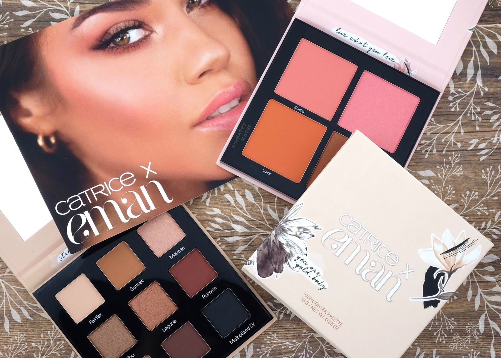Catrice x Eman | Eyeshadow Palette, Blush Palette & Highlighter Palette: Review and Swatches