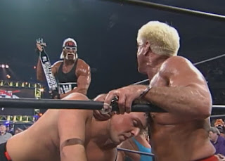 WCW Souled Out 1999 -Hulk Hogan taunts Ric Flair & David Flair