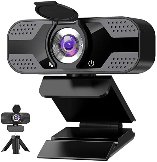 ANVASK Webcam with Microphone for Desktop