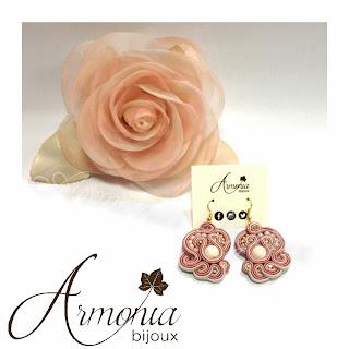 orecchini soutache bijoux cipria