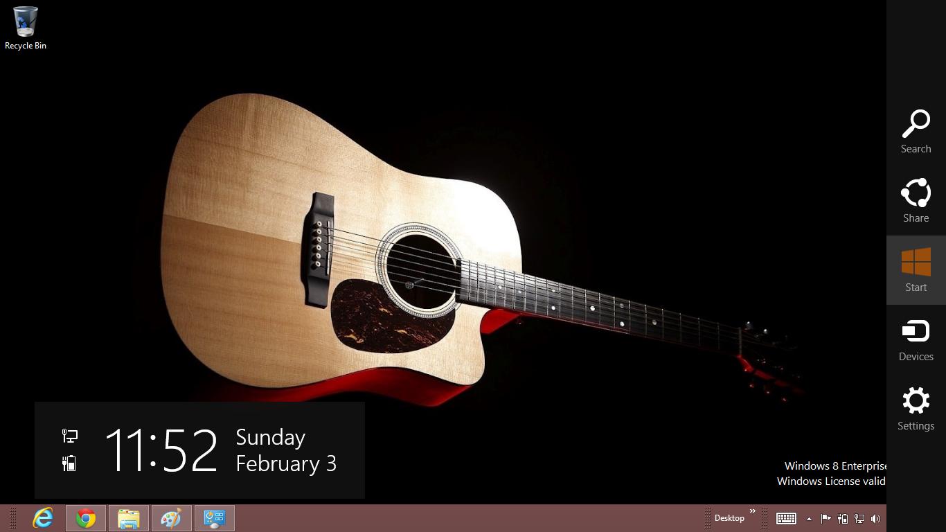 Guitar Windows 8 Theme