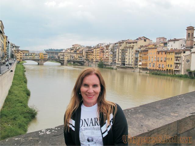 Ponte Vecchio a Fiume Arno