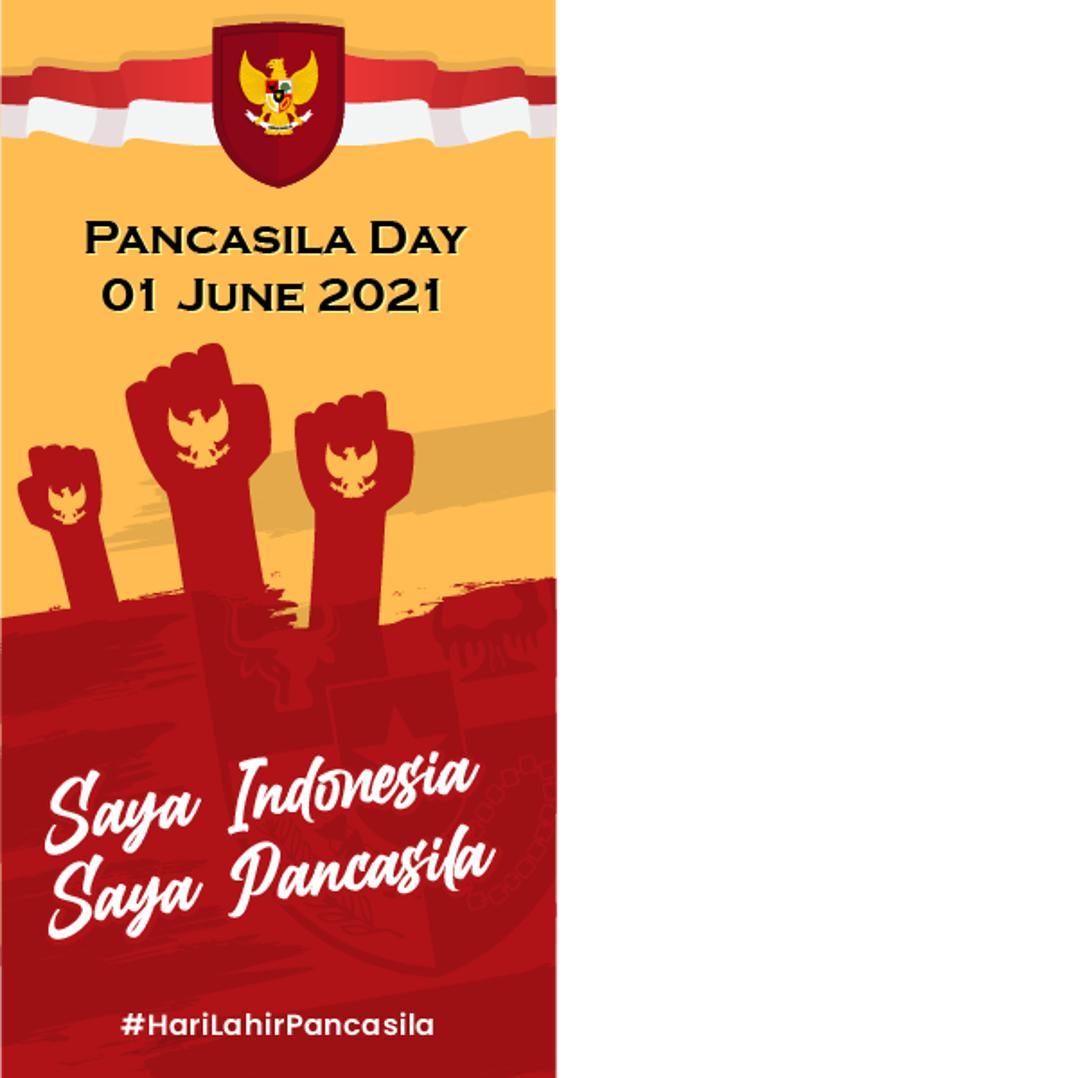 Frame Template Twibbon Harlan Pancasila 2021 - Pancasila Day 1 Juni 1945 - 1 Juni 2021