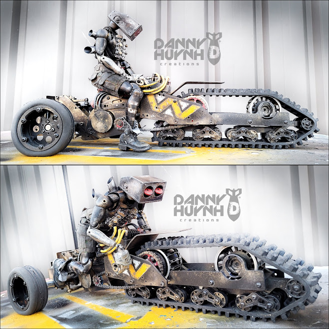 Blower Head Tracked Wasteland Trike and Pilot by Danny Huynh Creations