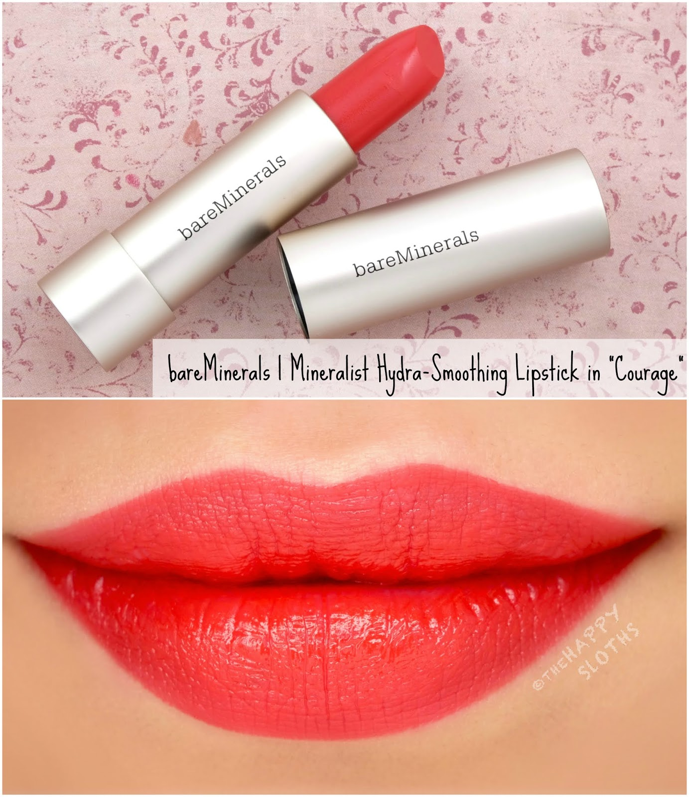 "bareMinerals | Mineralist Hydra-Smoothing Lipstick in ""Courage"": Review and Swatches"