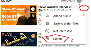Report youtube video