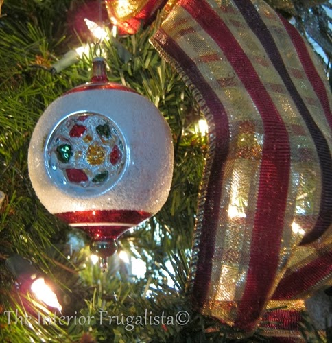 Vintage frosted Christmas ornament