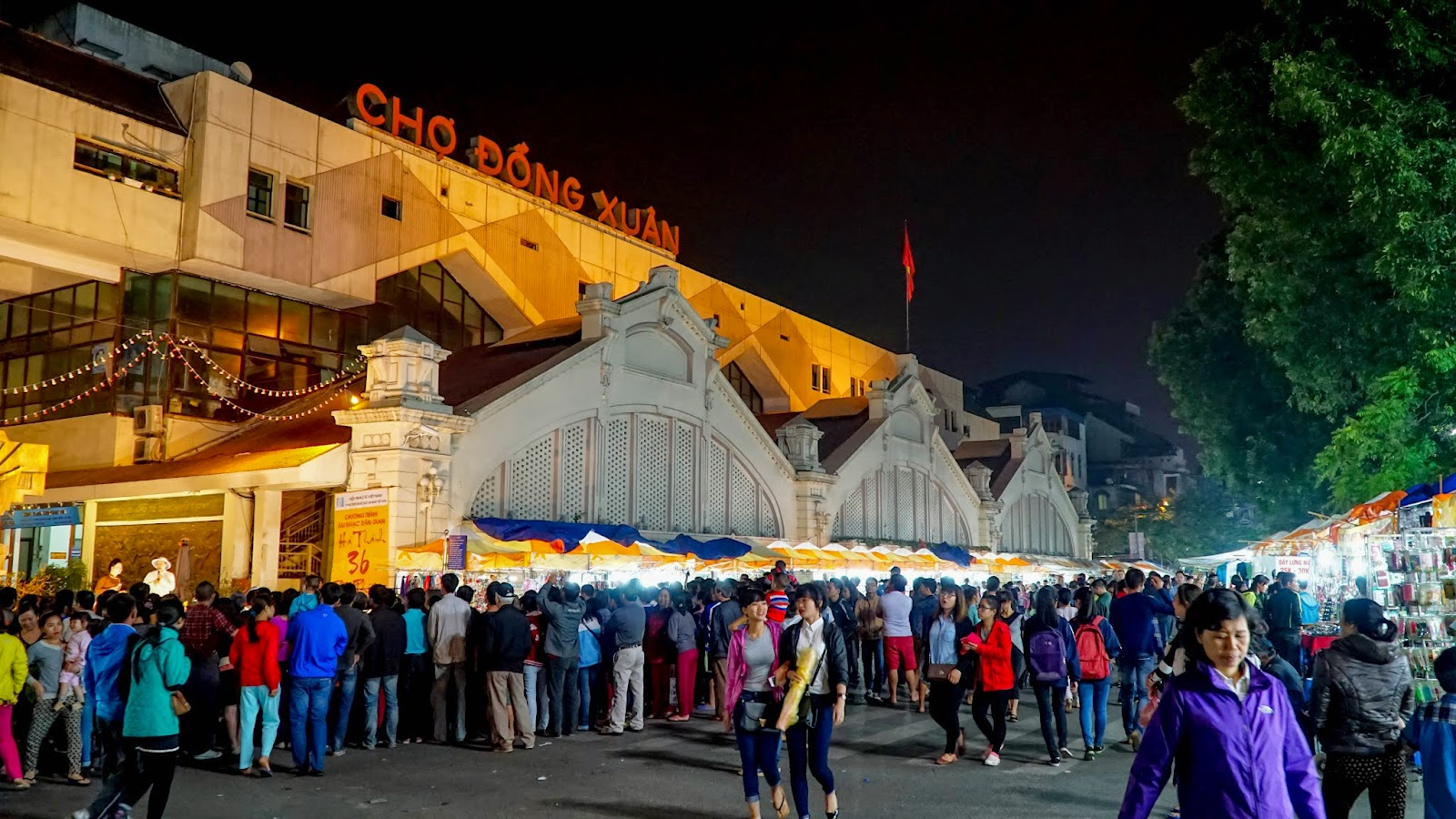 The weekend night market is huge and will probably take you hours to see everything